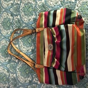 Striped Coach Purse